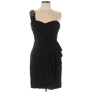 Xscape One Shoulder Cocktail Holiday Party Dress